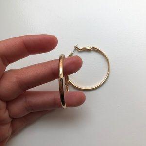 NWOT Gold Hoop Earrings